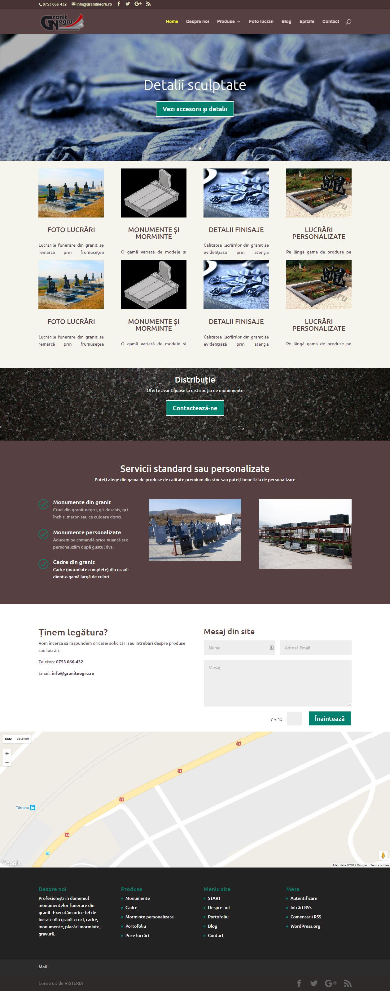 Granit Negru - Site monumente funerare